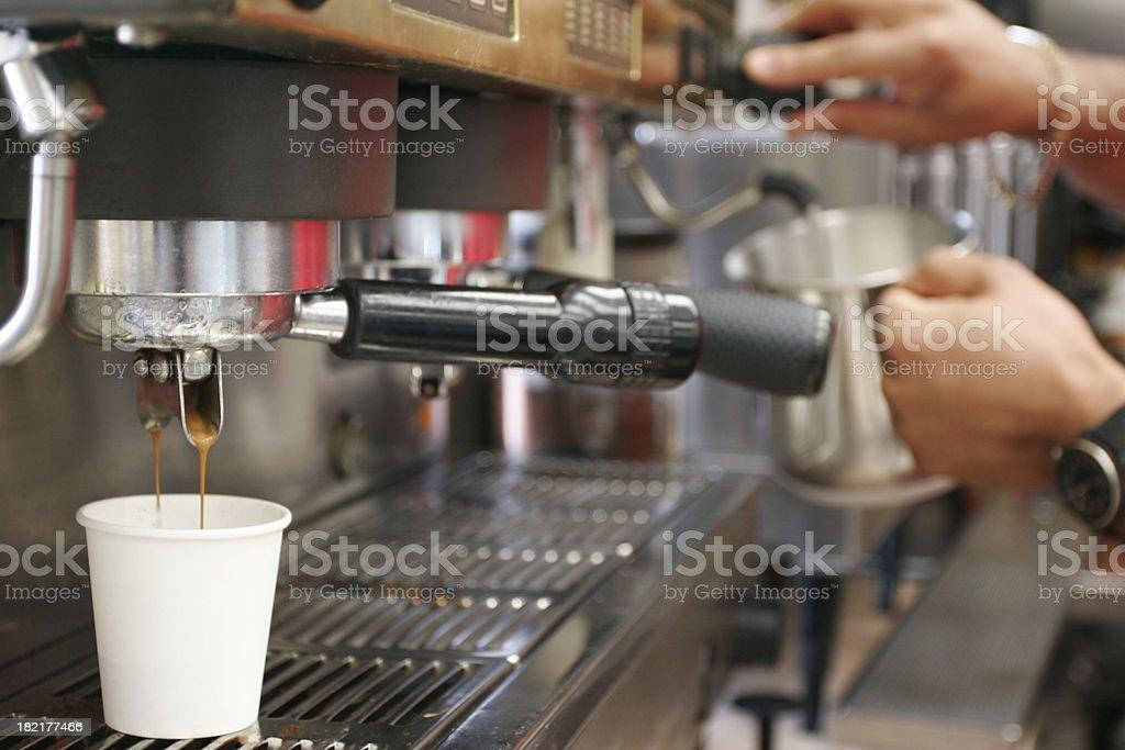 Making a Cappuccino stock photo