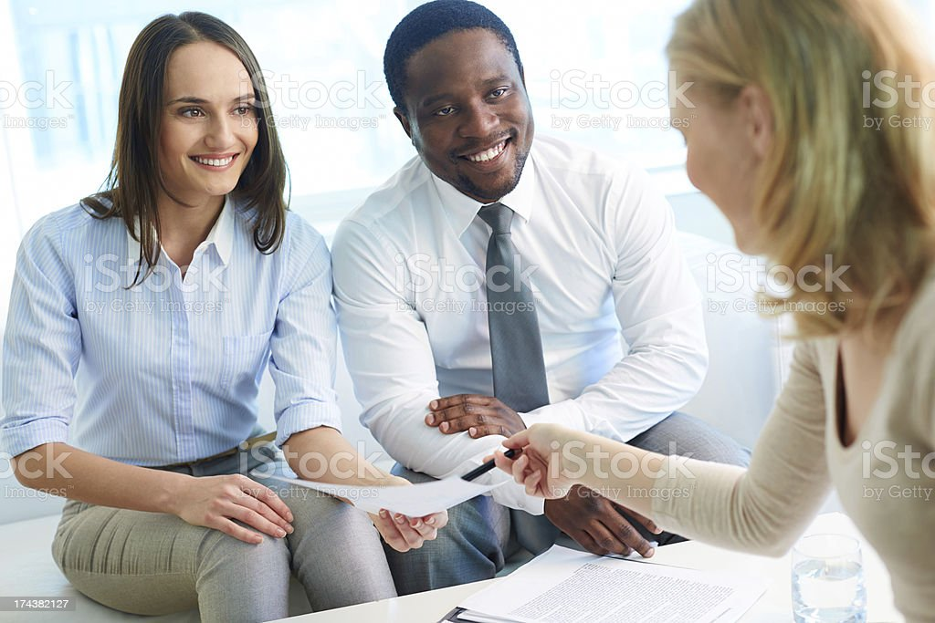 Making a deal royalty-free stock photo