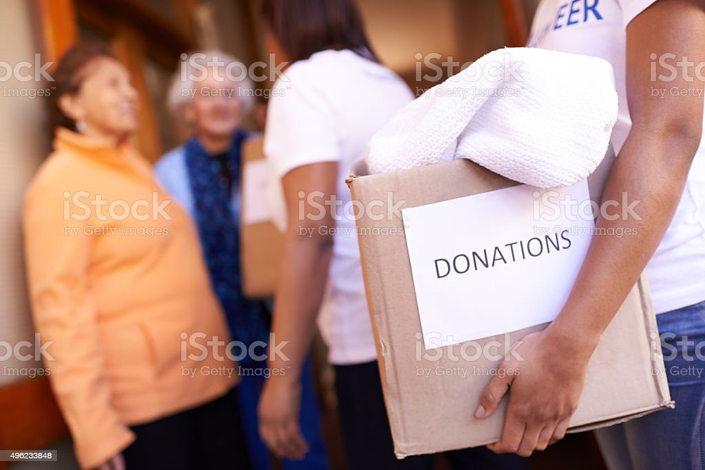 Making a difference in their community stock photo