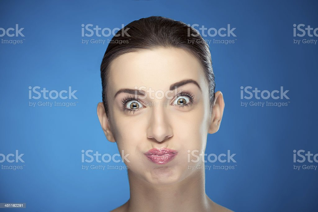 making a face stock photo