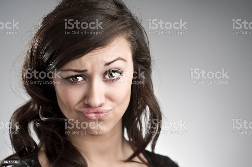 Making A Face Portrait royalty-free stock photo