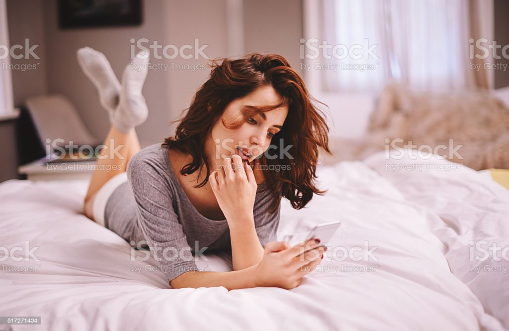 Making a few plans for the weekend stock photo