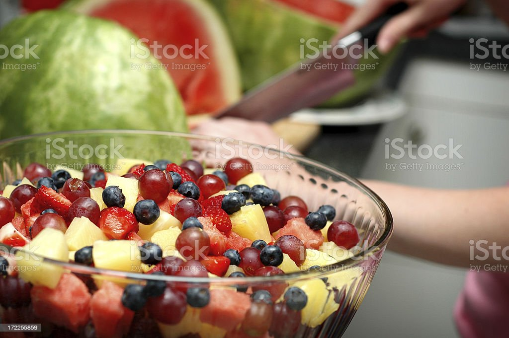 Making A Fruit Salad royalty-free stock photo