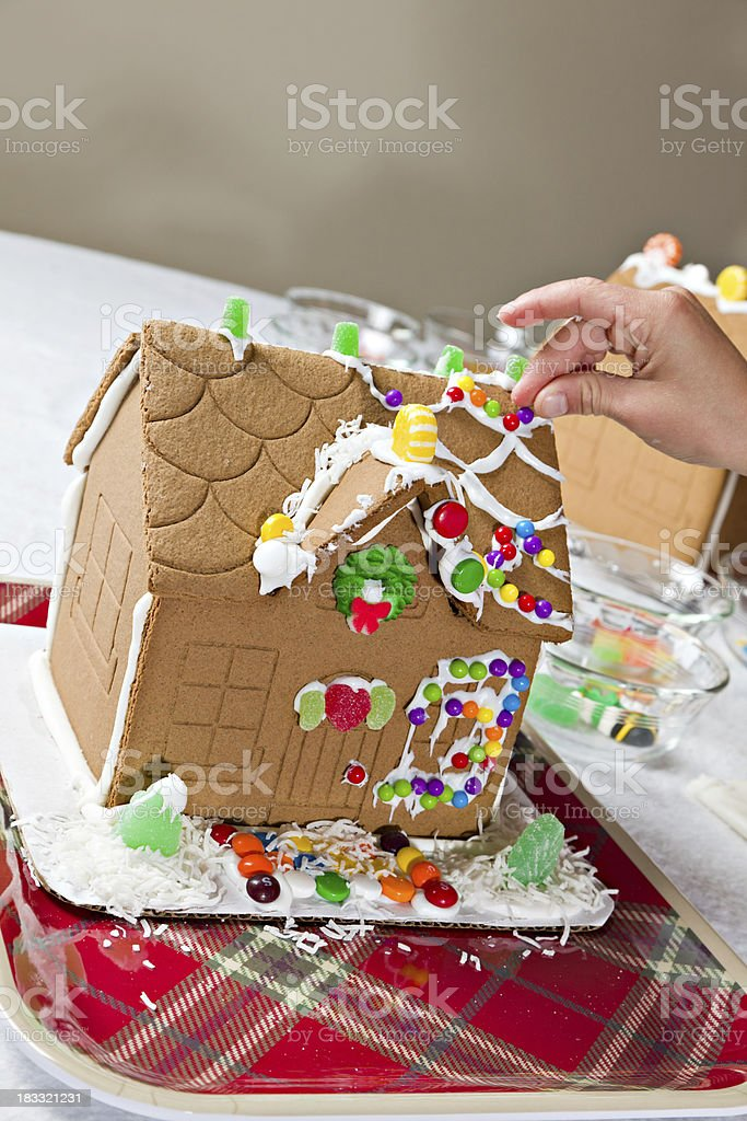 Making A Gingerbread House royalty-free stock photo