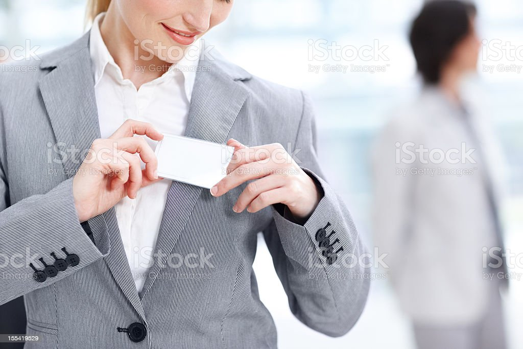 Making a good first impression stock photo