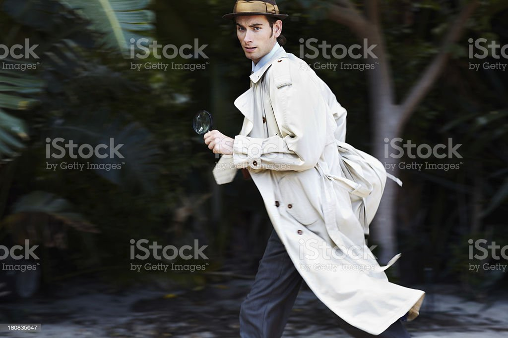 Making a hasty getaway stock photo
