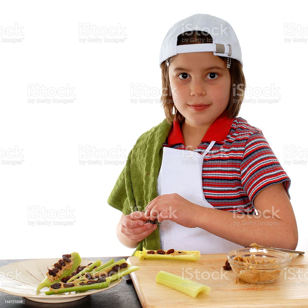 Making a Healthy Snack stock photo