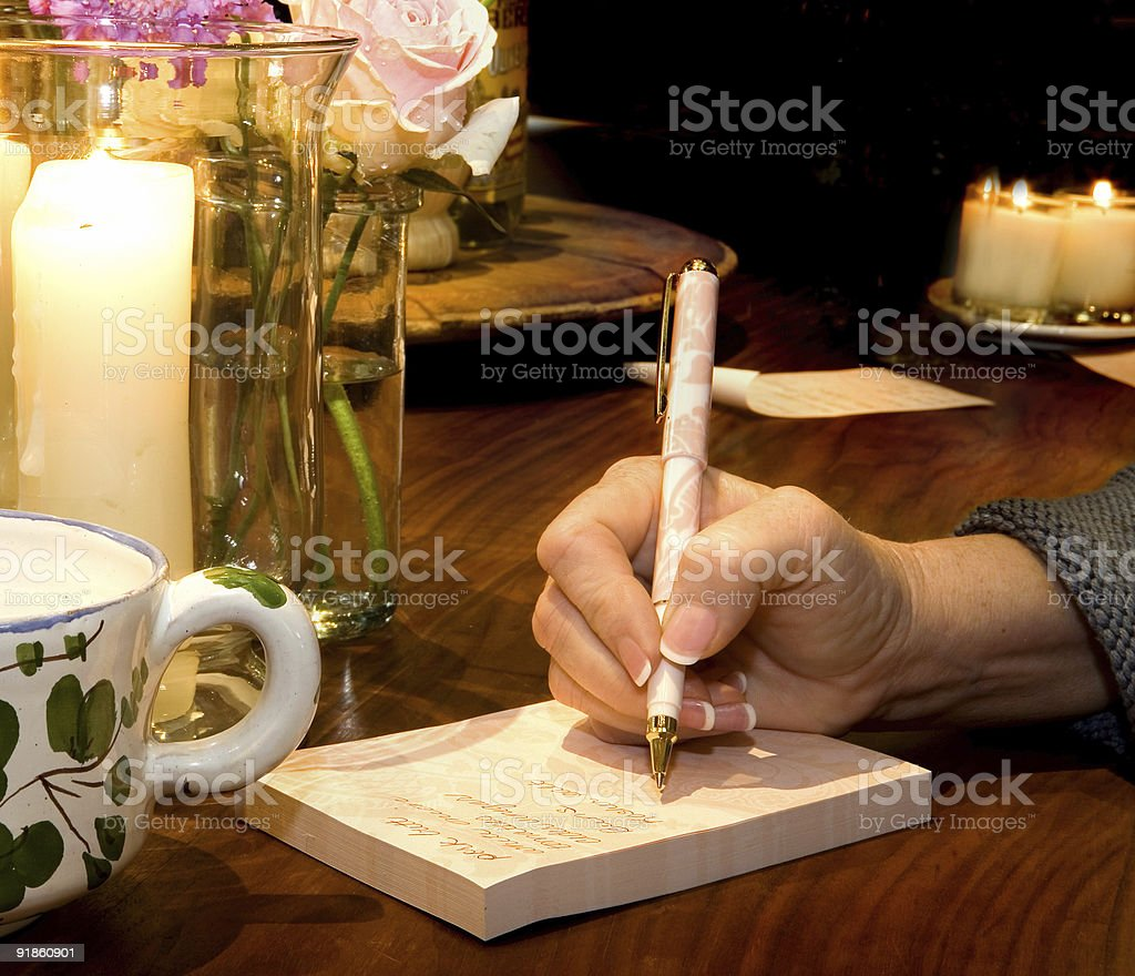 Making a list stock photo