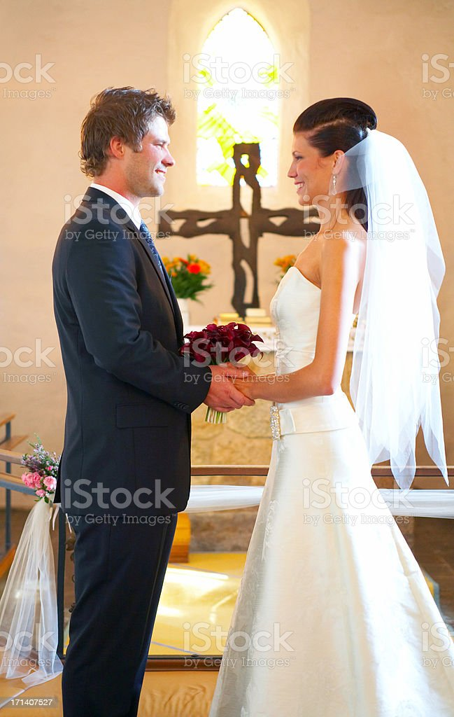 Making a loving commitment  royalty-free stock photo
