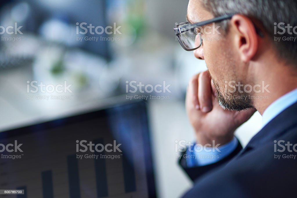 Making a lucrative online investment stock photo
