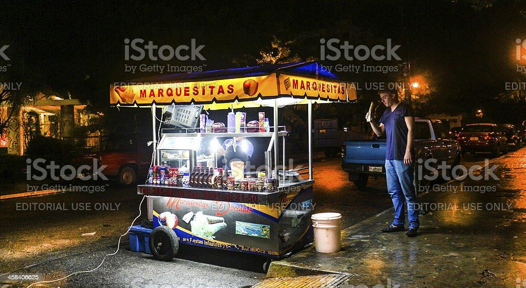 Making a Marquesita stock photo