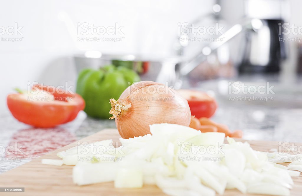 Making a meal royalty-free stock photo