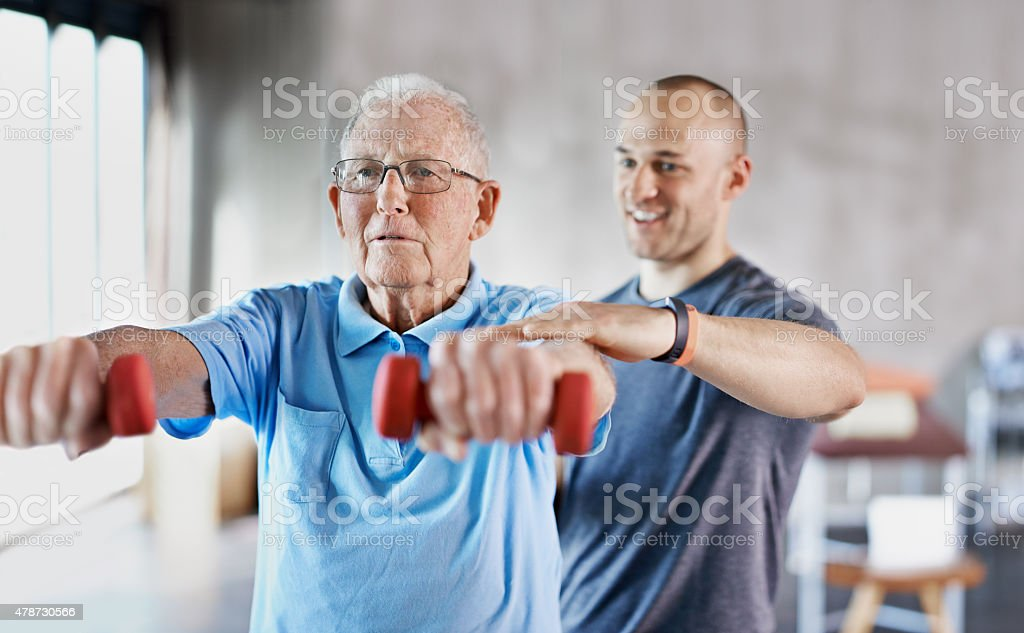 Making a move towards a healthy retirement stock photo