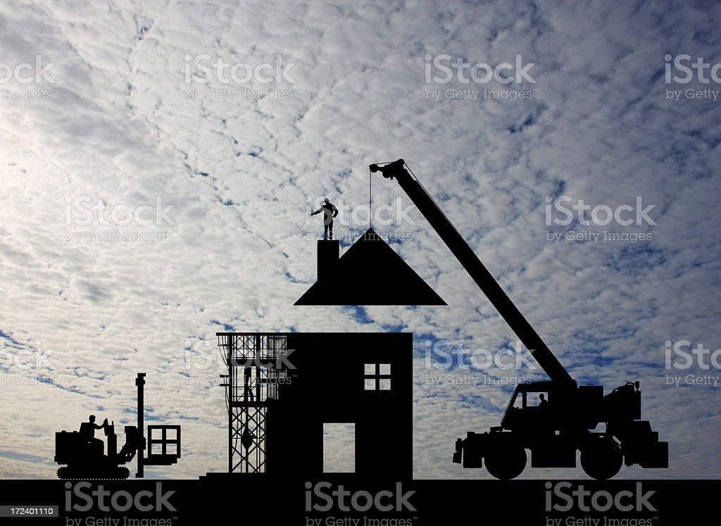 Making a New Home royalty-free stock photo