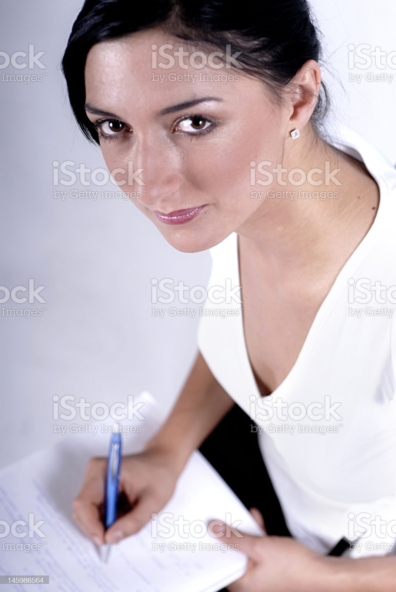 Making a notes royalty-free stock photo