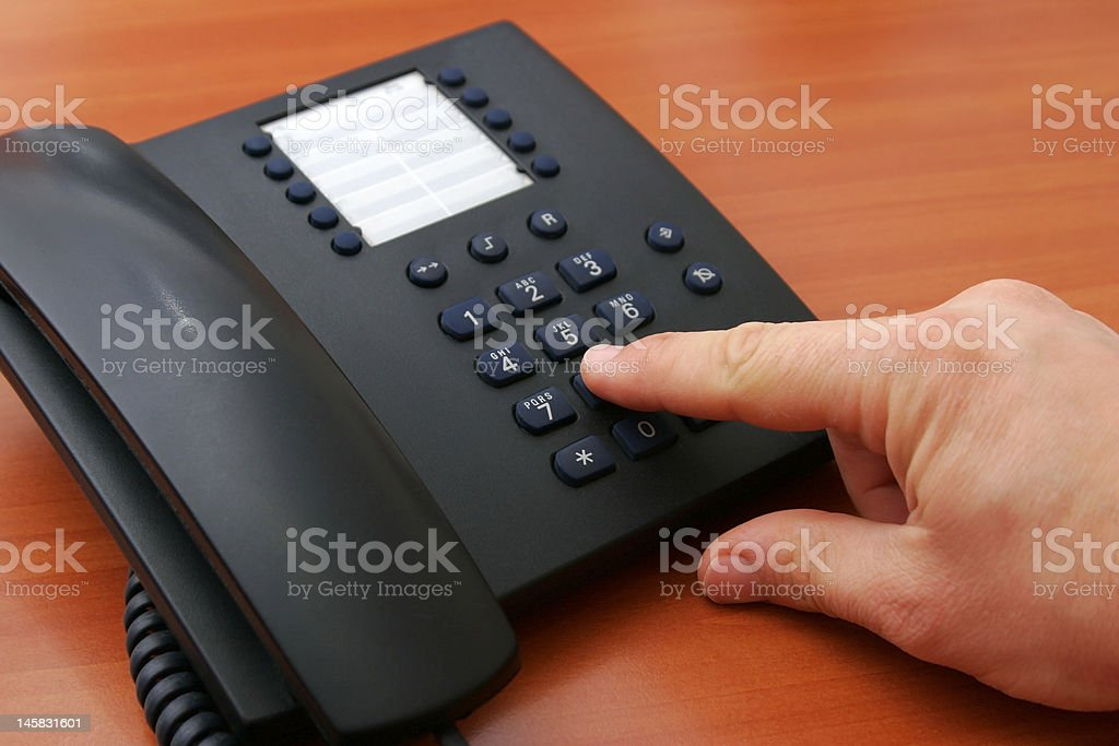 Making a Phone Call royalty-free stock photo
