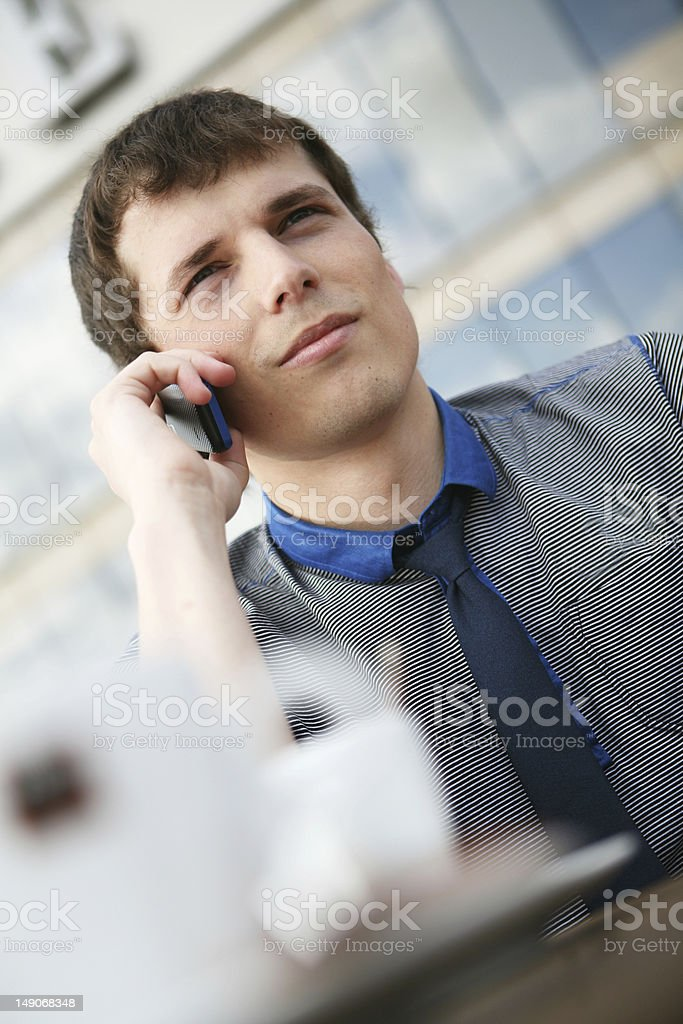 Making a phone call. royalty-free stock photo