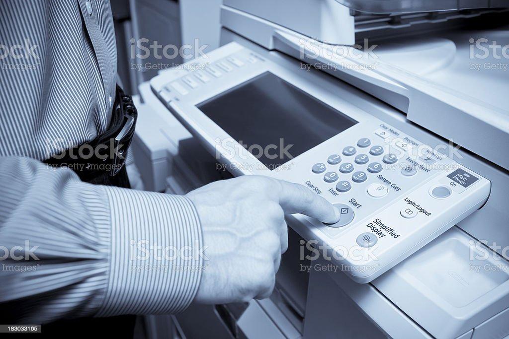 Making a Photocopy royalty-free stock photo