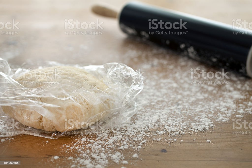Making a pie crust from scratch royalty-free stock photo