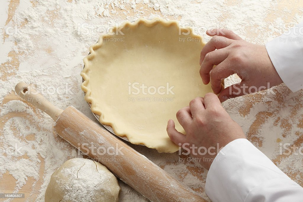 Making a Pie stock photo