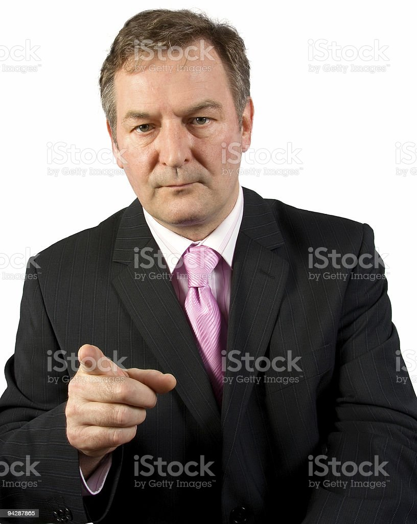 Making a Point royalty-free stock photo