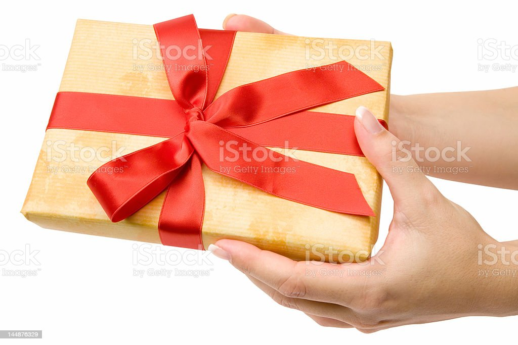 Making a Present stock photo