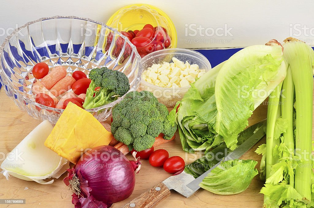 Making a Salad stock photo