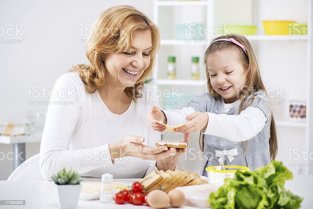 Making a Sandwich royalty-free stock photo