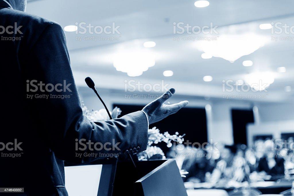 making a speech stock photo