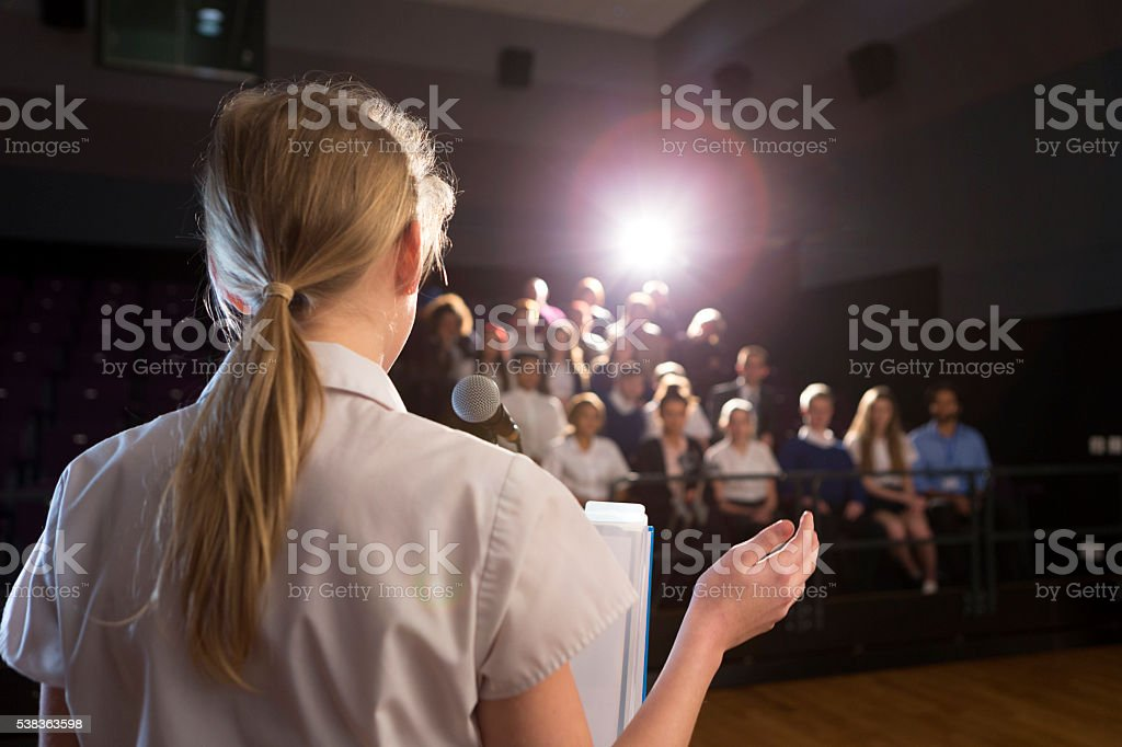 Making a Speech stock photo
