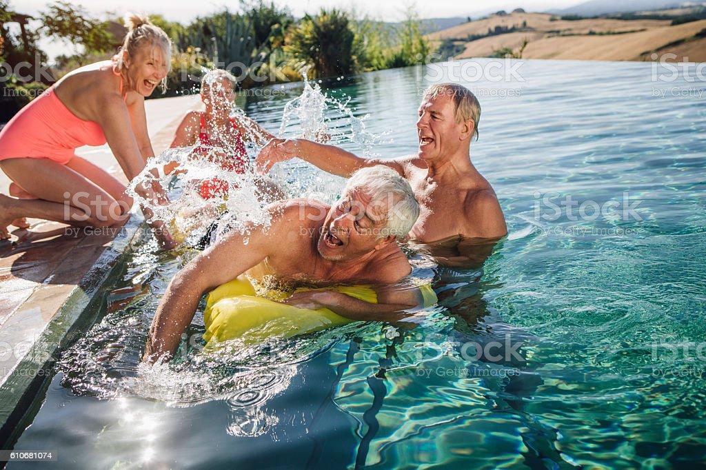Making a Splash stock photo
