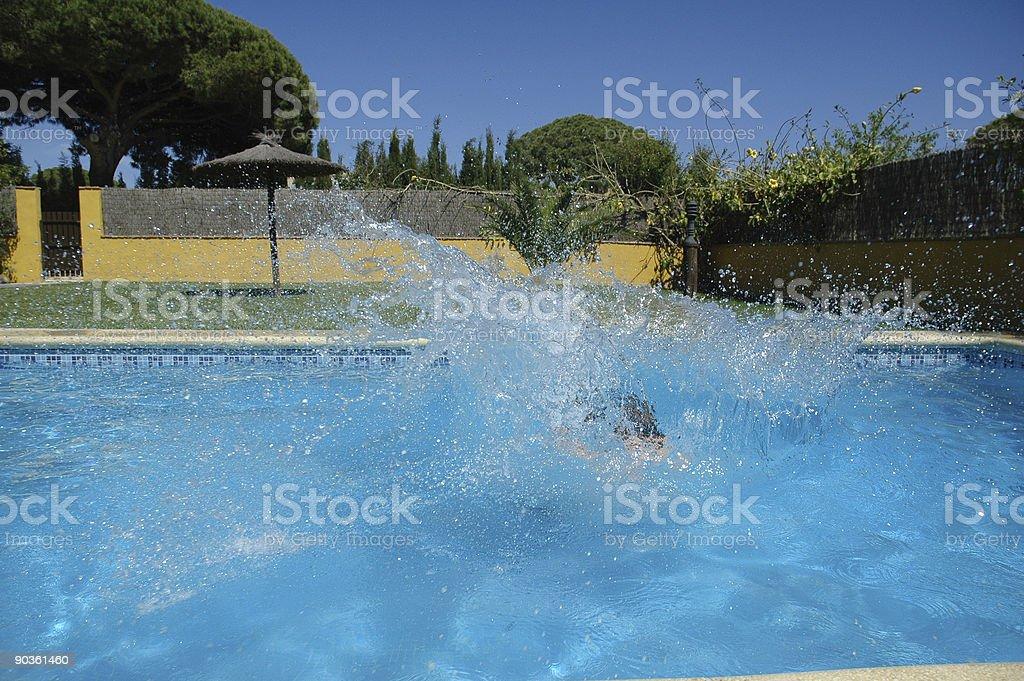 Making a splash royalty-free stock photo