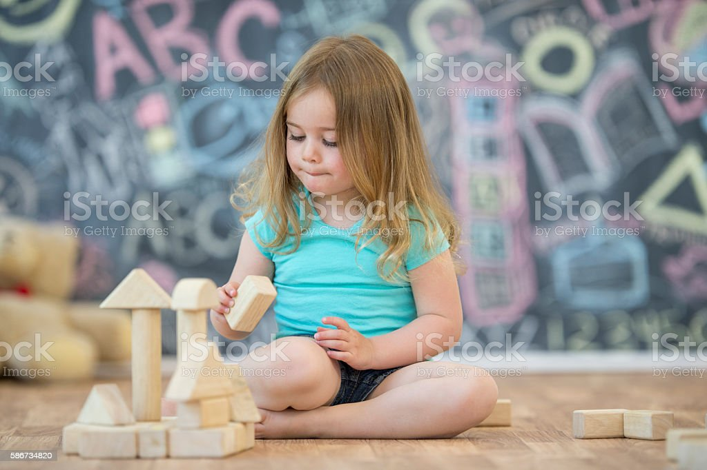 Making a Tower stock photo