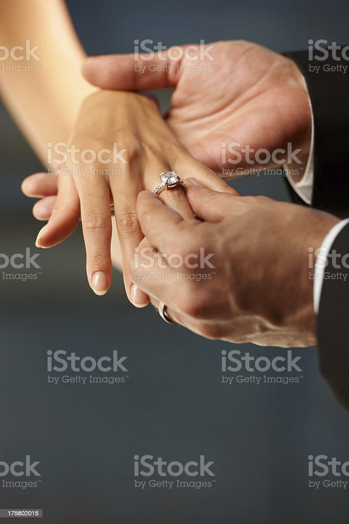 Making a vow royalty-free stock photo