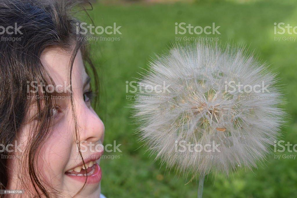 Making a wish come true stock photo