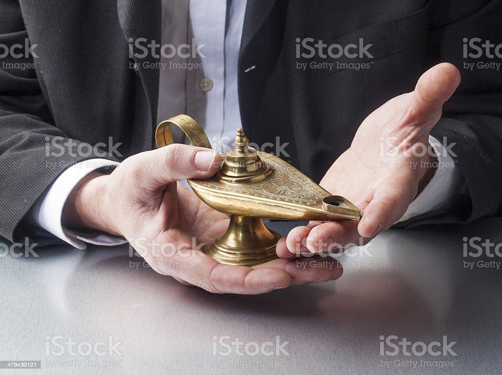 making a wish management stock photo