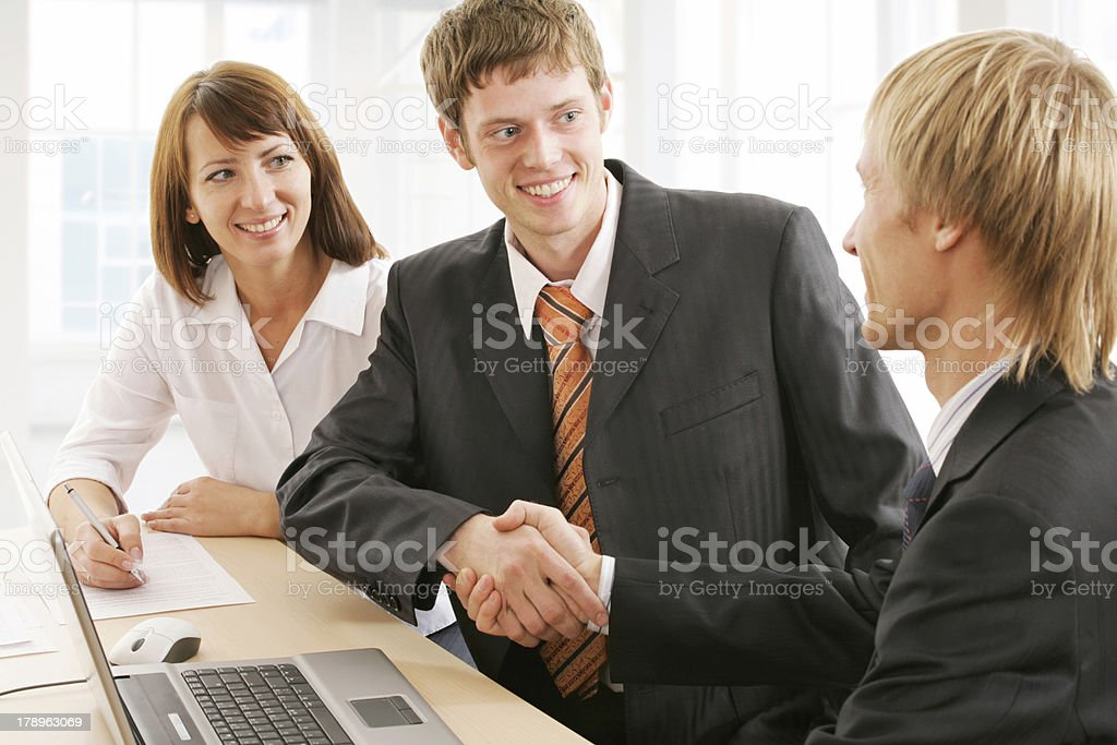 Making agreement royalty-free stock photo