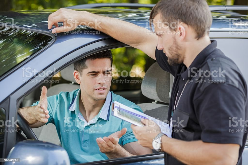Making an excuse stock photo