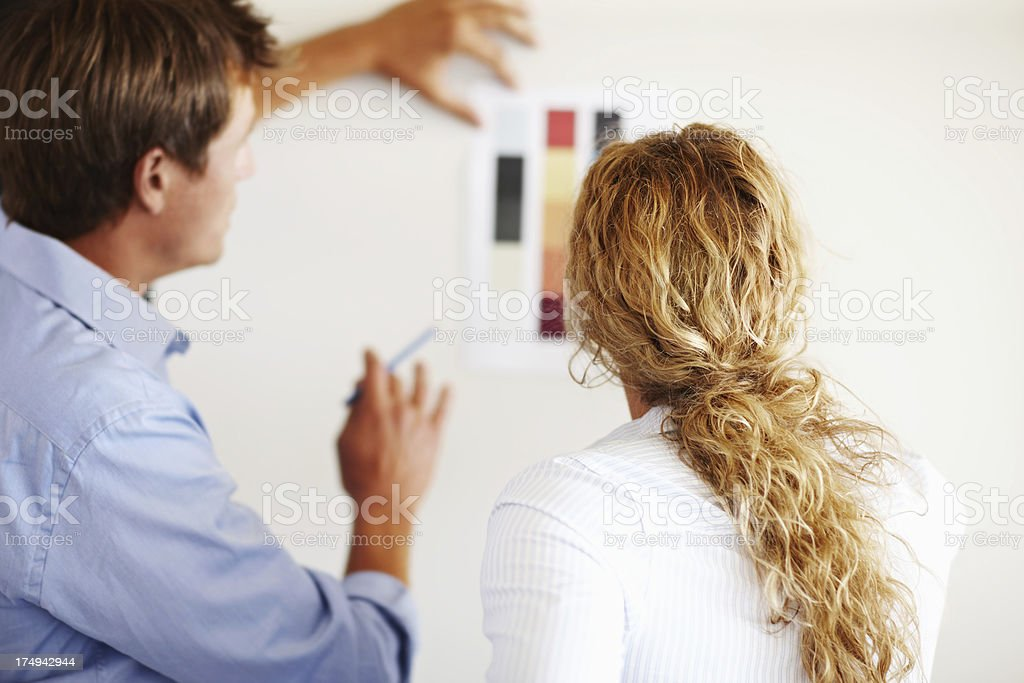 Making an important choice together royalty-free stock photo