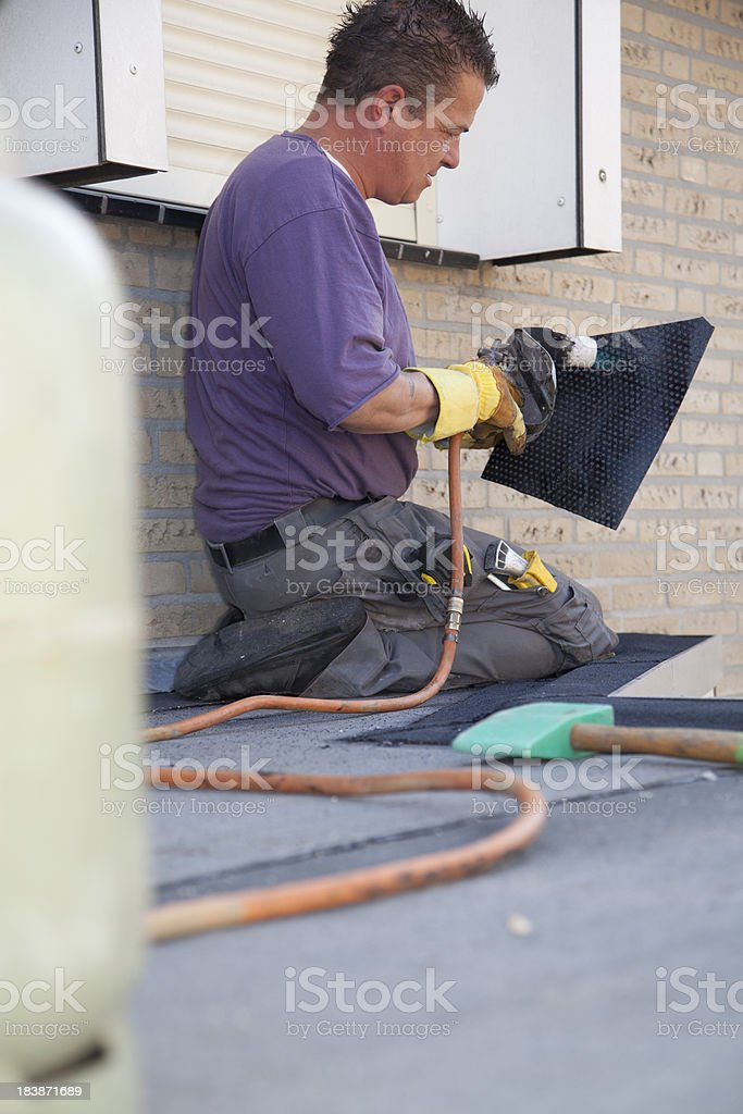 Making and repairing a roof. royalty-free stock photo