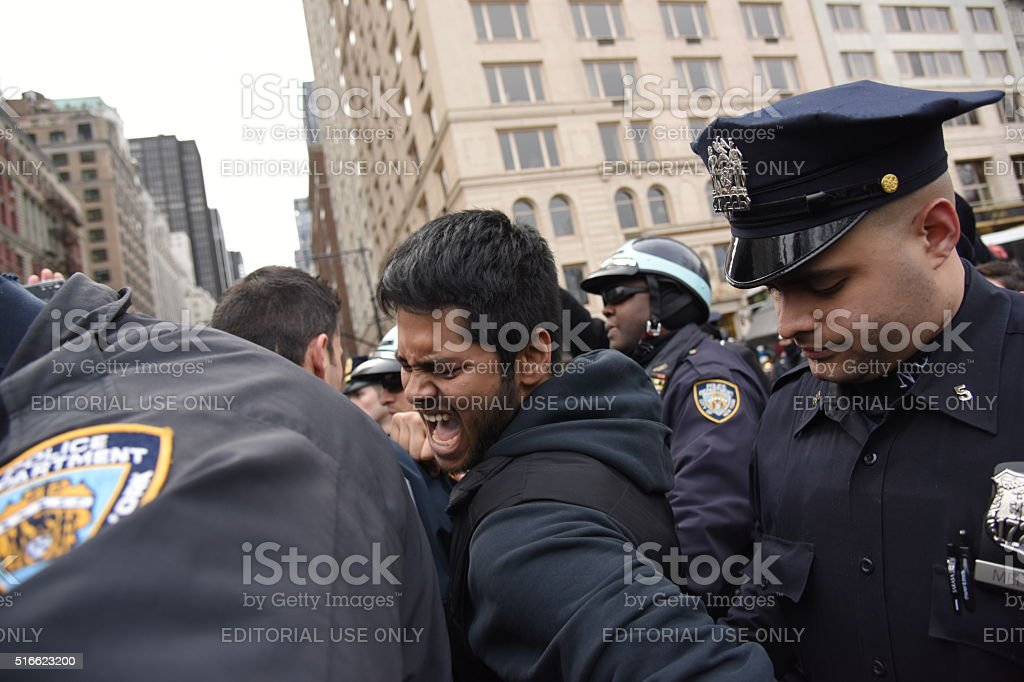 Making arrest stock photo