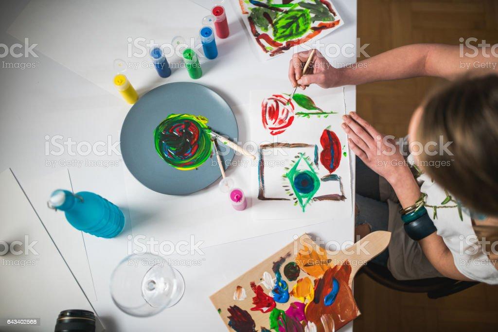 Making art stock photo