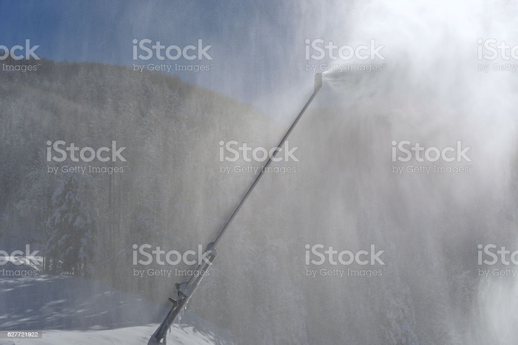 Making artificial snow stock photo