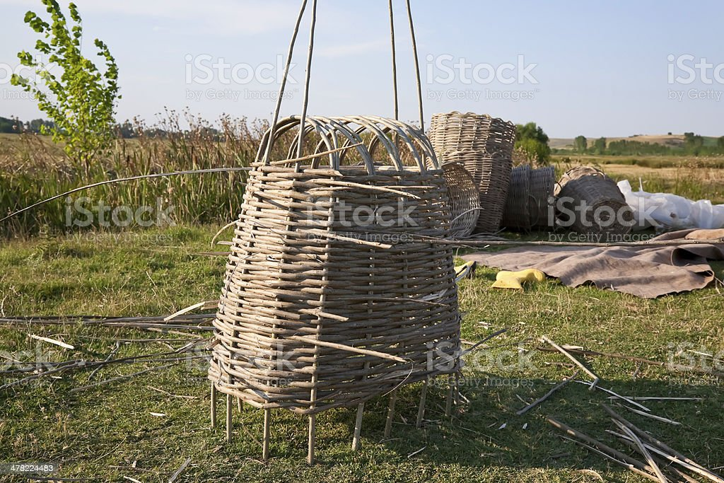 Making basket stock photo