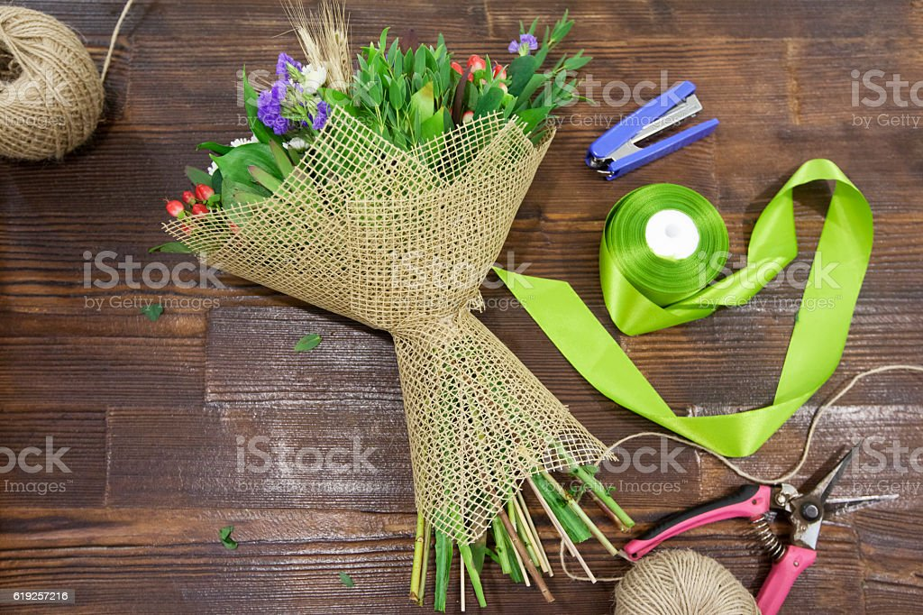 Making Bouquet stock photo