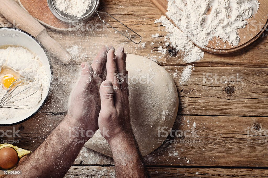 Making  bread stock photo