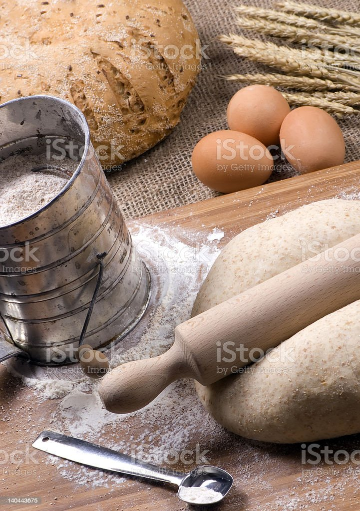 Making Bread Series royalty-free stock photo