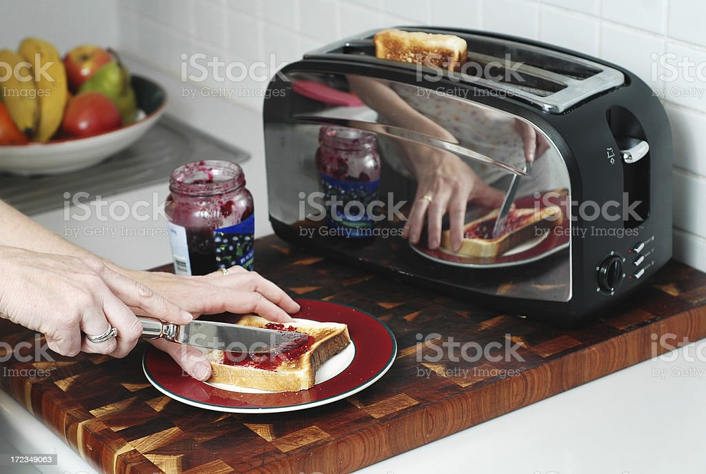 Making breakfast royalty-free stock photo