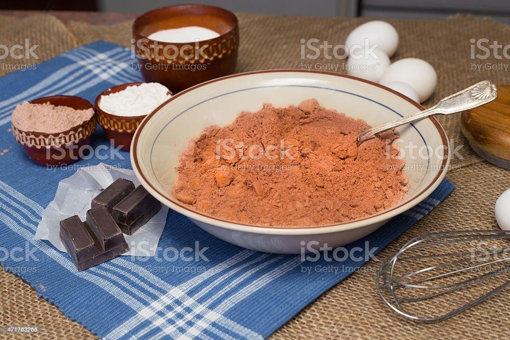 Making Brownies royalty-free stock photo