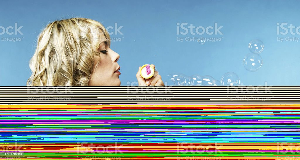 Making Bubbles royalty-free stock photo